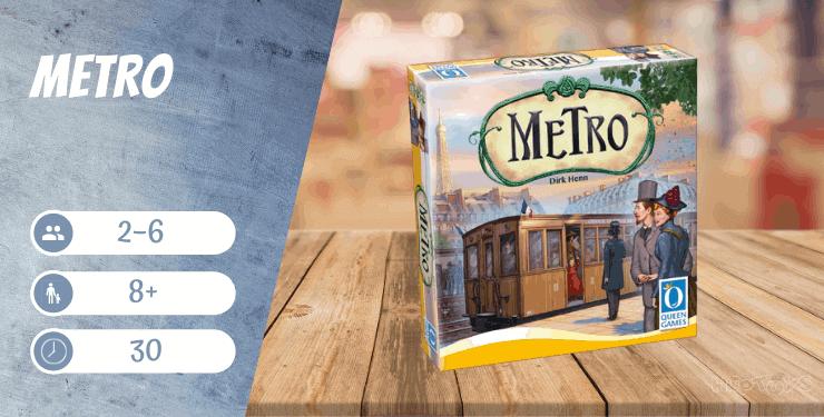 Metro Brettspiel ab 8 Jahren