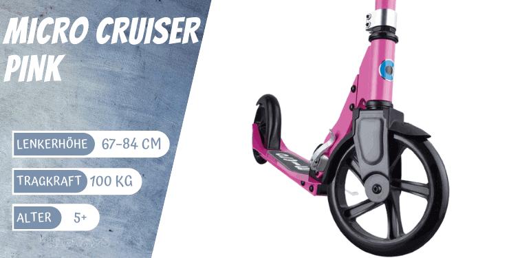 Micro Cruiser Variante pink für Kinder ab 5