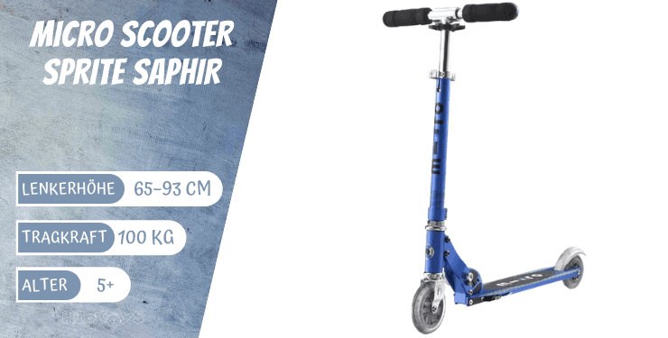 Micro Scooter Sprite Saphir blau für Jungs ab 5 Jahre