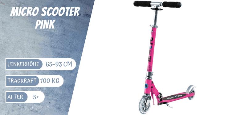 Micro Scooter Sprite pink für Mädchen ab 5 Jahre