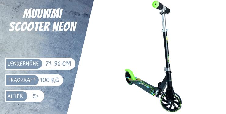 Muuwmi Scooter Neon für Kinder ab 5