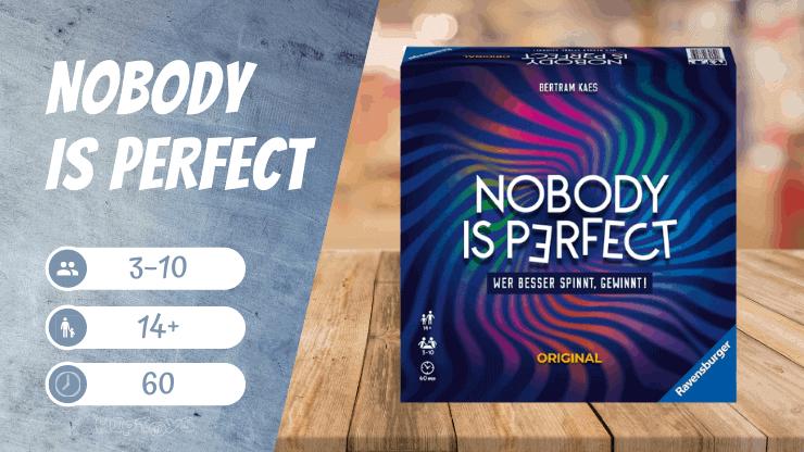 Nobody is perfect Brettspiel
