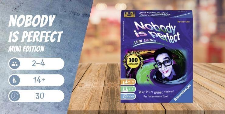 Nobody is perfect - Mini Edition Brettspiel