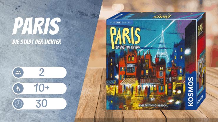 Paris - Die Stadt der Lichter Spiel für 2 Spieler