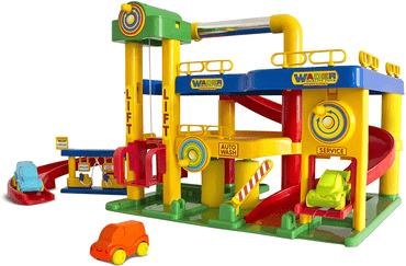 Parkhaus für Kinder von Wader Garage Nr. 1 mit Autos