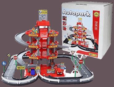 Parkhaus für Kinder von Wader Wader Quality Toys Garage mit 4-Ebenen mit Straße und Autos