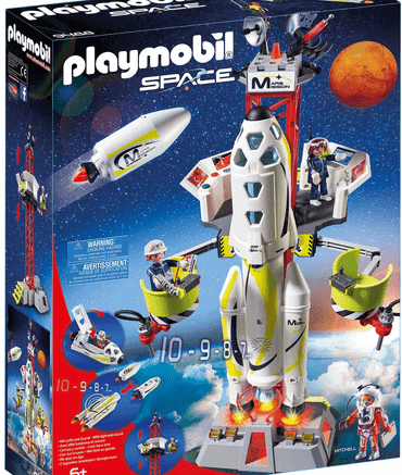 Playmobil Space Mars-Rakete mit Startrampe