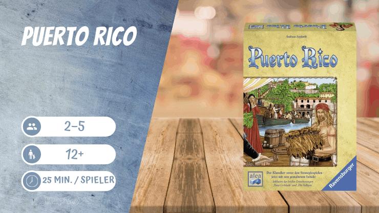 Puerto Rico Spiel für 5 Personen
