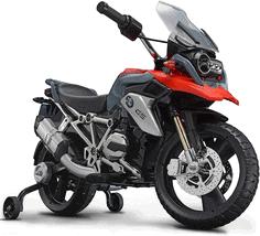 ROLLPLAY Elektro-Motorrad (BMW R1200 GS), Mit Stützrädern, Für Kinder ab 3 Jahren