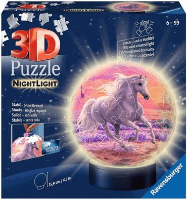 Ravensburger 3D Puzzle Nachtlicht Pferde am Strand