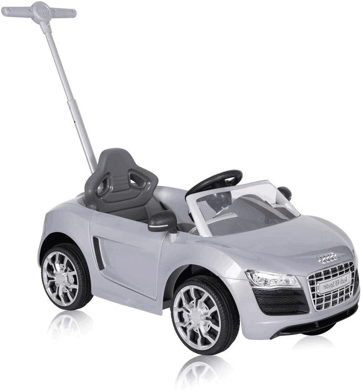 Rutschauto mit Stange zum Schieben - Audi