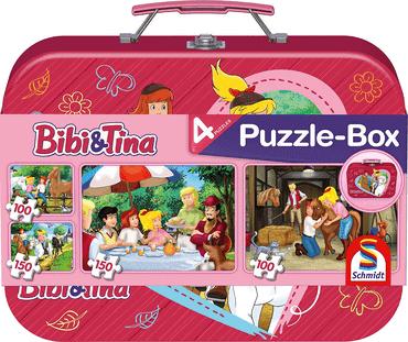 Schmidt Spiele Puzzle - Bibi und Tina, Im Metallkoffer