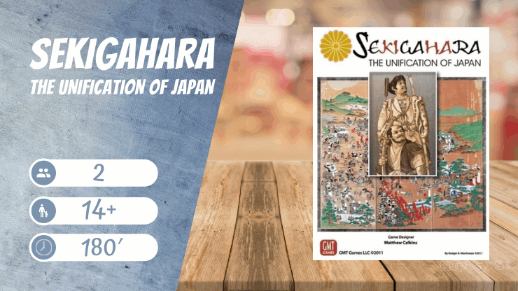 Sekigahara The Unification of Japan Brettspiel
