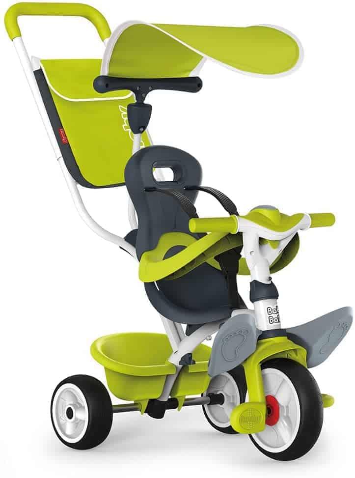 Smoby - Baby Balade Dreirad mit Gurt und Stange