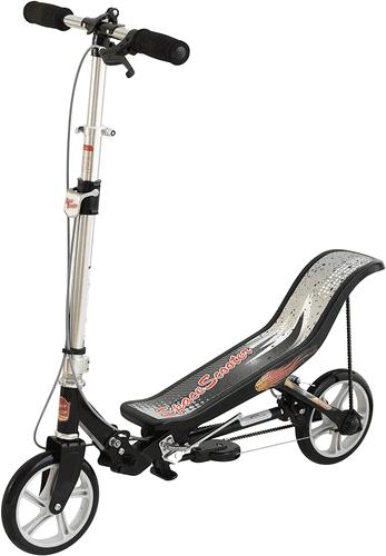 Space Scooter X580, Schwarz, Tretroller mit Schwungrad