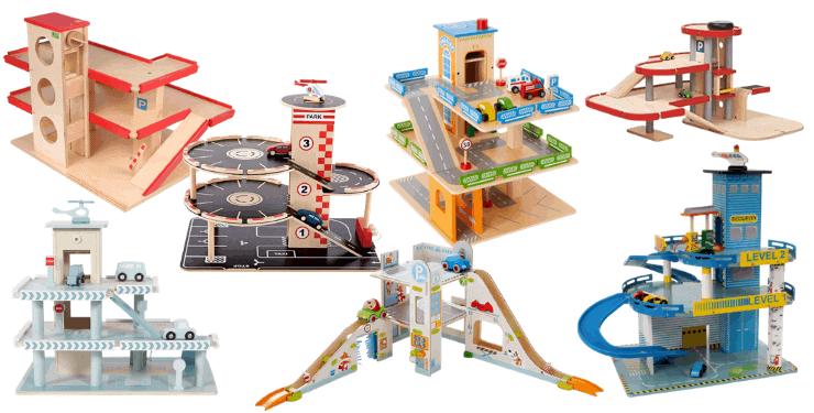 Spielzeug-Parkhaus aus Holz für Kinder Die beliebtesten Modelle
