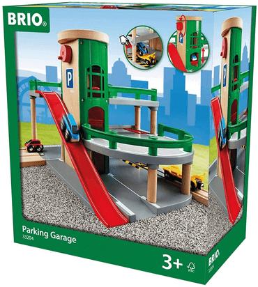 Spielzeug Parkhaus aus Holz von Brio mit Schienen & Holzeisenbahn