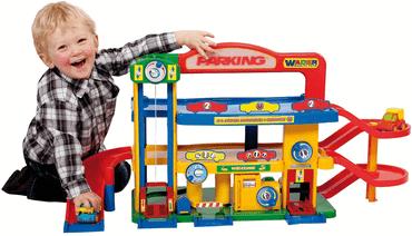 Spielzeug Parkhaus für Kinder von Wader Garage Nr. 1 Premium mit Autos