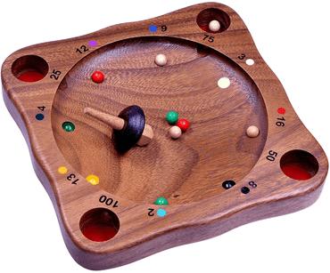 Holz Brettspiel Murmeln - Tiroler Roulette