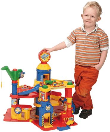 Wader Quality Toys Park Tower mit 4 Ebenen + Autos