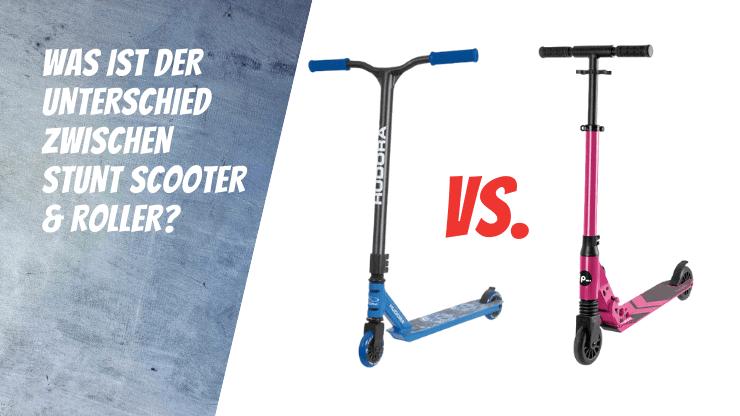 Was ist der Unterschied zwischen Stunt Scooter und Roller